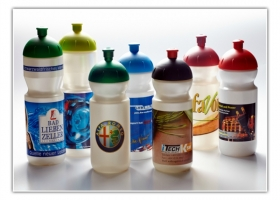 digitally decorated bottles